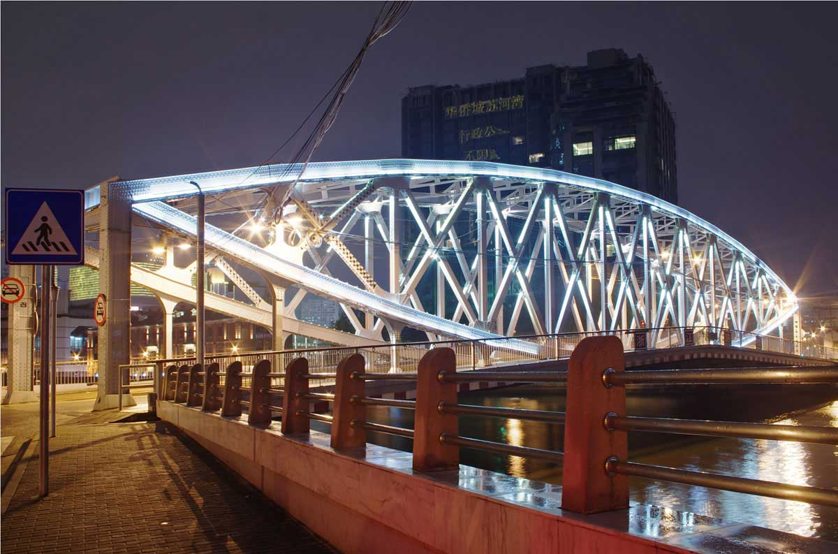 Suzhou Creek, Shanghai at night